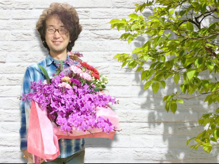 花束を持っているイメージ