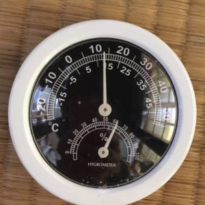 温度計 温室内 2021年1月10日:221日目
